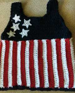 Fourth of July girl's cotton top (9)